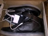 I have a set of fashion leather waterproof high top