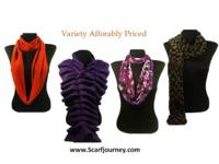 From solid infinity scarves to fashionable faux fur, to