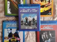 COLLECTION: Quick and Furious 1-5: Blu-Ray + Digital