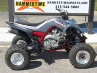 This is a 2007 Yamaha Raptor 700 in good condition.