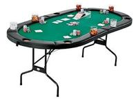 Fat Cat Texas Hold' Em PokerTable The green cloth