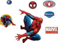 The Spiderman Wall Appliques add fun and action to your