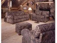 3 PIECE CAMOUFLAGE LIVING-ROOM SET AND A MATCHING