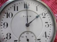 1 father time pocket wach, BY ELGIN, 21 GEMS. WORKS