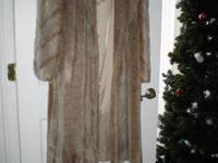 2 faux fur coats one long one medium length and short