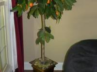 faux orange tree.  Unique item to decorate your