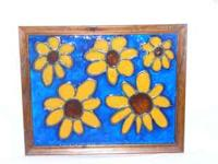 faux stain glass sunflowers...looks beautiful sittin in