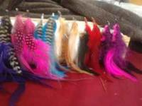 Beautiful and Affordable hand crafted feather earrings.