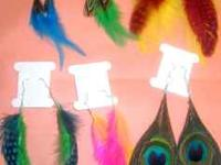 I have hand made several different feather earrings.