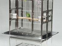 This bird cage's innovative design enables quick and