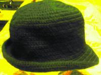 hand made crochet fedra hats. several colors