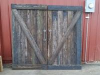 Custom fence wood barn/stall doors. Can be used as just