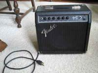 """Fender 15"" amp, small size great for practice,"