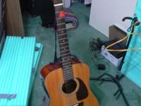 NICE ACOUSTIC/ELECTRIC GUITAR. MODEL DG-16E-12. USED