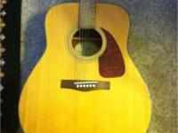 FENDER DG 7 ACOUSTIC. Great Guitar.has a small puncture