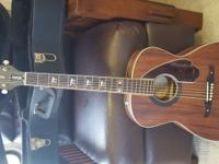 Fender Acoustic / Electric Guitar With Case. Is in Like
