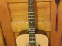 Fender Acoustic guitar comes with case. All 6 strings