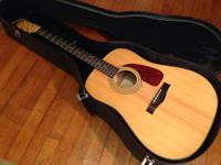 This FENDER ACOUSTIC GUITAR design DG-22S-NAT is in