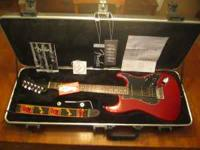 Excellent condition. Crimson Red Transparent, mahogany