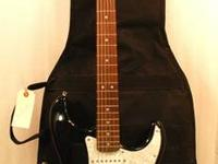 This listing is for a Fender Black Squier Strat