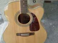 Fender CJ-290 SCE Jumbo Acoustic-Electric Guitar,