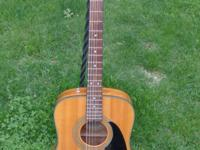 nice used fender acoustic guitar.A couple small