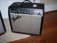 I have 2 amps for sale.One is a Fender 15G for $30.00.