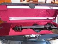 Beautiful Fender FV-1 electric violin black lacquer in