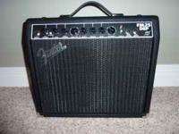 Like new Fender electric guitar practice amplifier. Ph;