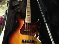 For sale is my sunburst Geddy Lee Jazz Bass. In my