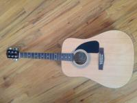 Lightly used Fender FA 100/...has a few scratches on