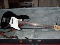 Fender Jazz Bass Guitar, like new! With hard case.