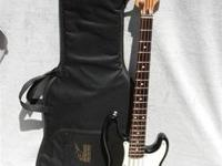 FENDER PRECISION BASS JR GUITAR AND PADDED SOFT CASE