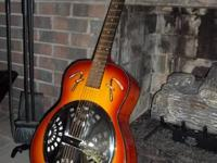 Beautiful Fender Resonator Guitar with Hard Shell Case