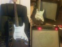 Nice Fender Squier Strat in good condition with a large