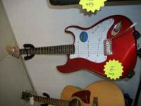 FENDER GUITAR. SQUIRE STRAT MADE IN INDONESIA CE $90.00