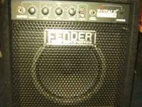 Fender squire bass and amp combo,the guitar is in like