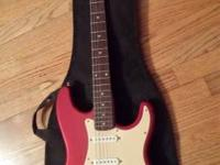 I am offering a fender squire stratocaster with an amp,
