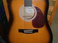 FENDER STAR CASTER ACOUSTIC/ELECTRIC GUITAR. NO CASE.