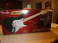 For sale is an electric guitar made by Fender called a