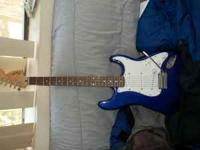 Looking to sell a Blue Fender Strat Squire with