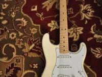 Handed Fender Sratocaster (Made in Mexico). Olympic