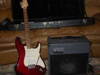 2006 fender stratocaster m.i.m. like new maroon w.