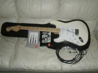 Like new condition left handed fender strat. Artic