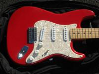 THIS IS A 1996 FENDER MEXICAN STANDARD STRATOCASTER. IT