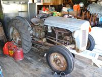 1951 Ferguson Tractor w/new front tires, 2 bottom plow