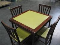 Vintage 'Novelty Furniture' folding table with (4)