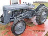 Re=painted Ferguson TO-20 tractor, good rubber, runs