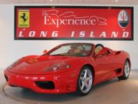 2003 Ferrari 360 Spider F1This Rosso/Beige spider is
