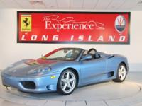 2002 Ferrari 360 Spider F1Only 21,778 from new. Azzurro